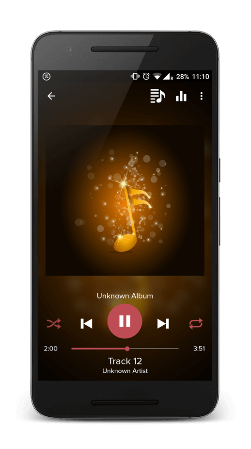 Pi Music Player Playback Screen